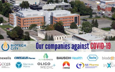 Biodextris is recognized by biotech city as one of the canadian organizations in the fight against covid-19